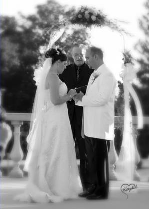 B&W wedding vows