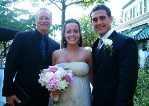 Rev. Kent and the newlyweds