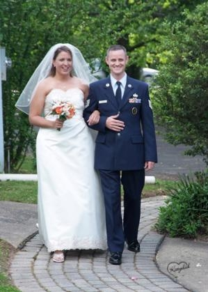 Military happy couple