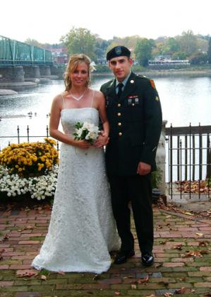 Military Wedding on the River New Hope