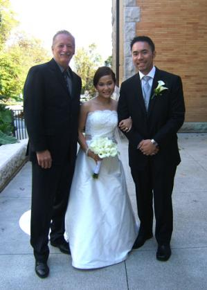 A beautiful couple with Rev. Kent