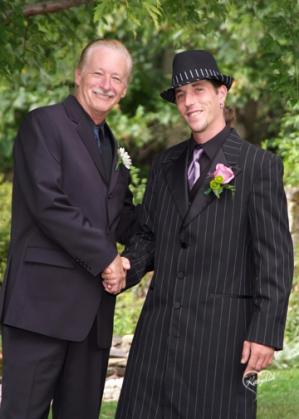 pinstripe suit